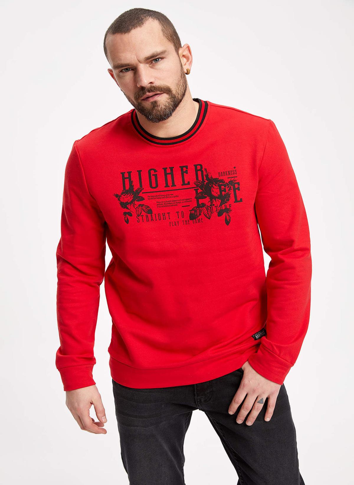 Defacto Yazı Baskılı Slim Fit Sweatshirt K1300az19sprd303sweatshirt – 59.99 TL